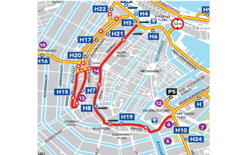 News: Prohibited inner city routes for coaches in Amsterdam