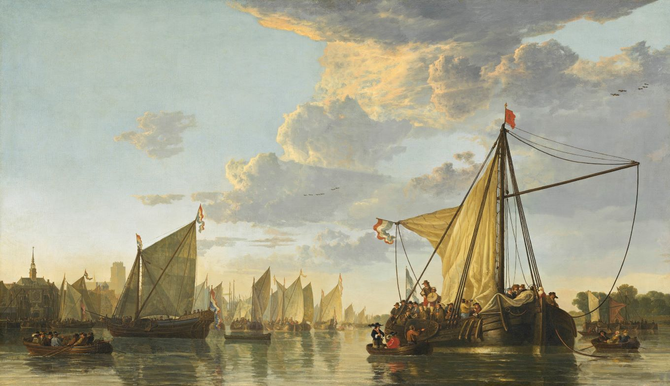 Painting Aelbert Cuyp The Maas at Dordrecht