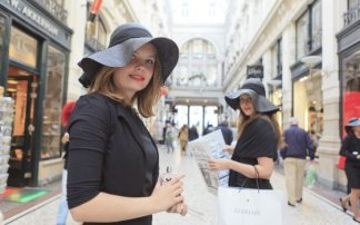 Percorso dello shopping all'Aia
