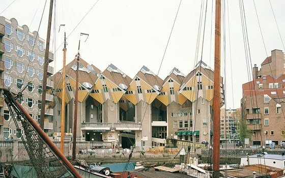 The famous cube houses in Rotterdam
