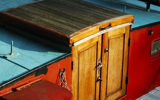 A detail of an houseboat