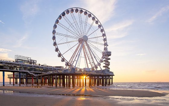 Ferris wheel over the sea, Scheveningen Pier