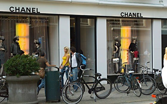 A Chanel store In the P.C. Hooftstraat in Amsterdam