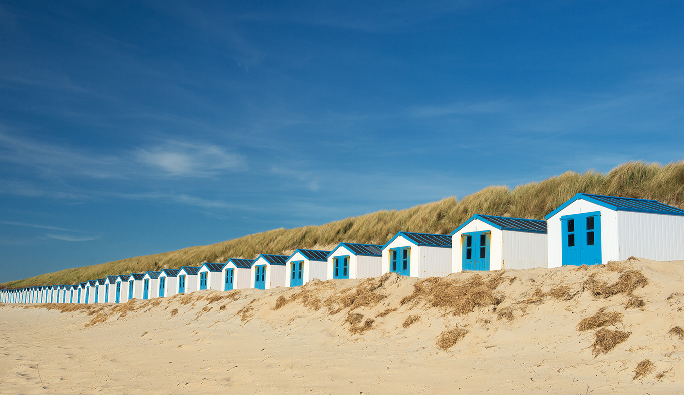 Beach cabins on Texel