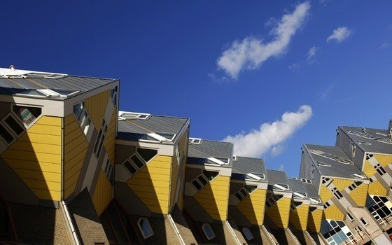Cube shaped houses in Rotterdam