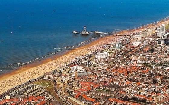 birds eye view over scheveningen