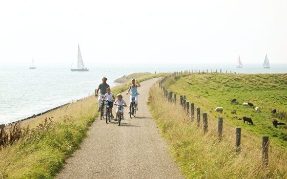 People cycling in Zeeland