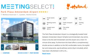 Book your event at Park Plaza Amsterdam Airport