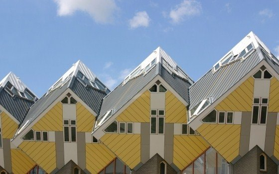 Cube shaped houses in Rotterdam, copyright Heather Tucker