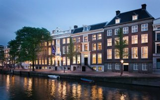 Hotels along the canals