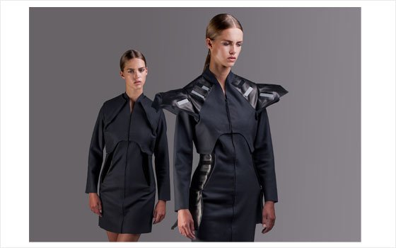 Pauline van Dongen, Wearable Solar-coat, 2013. Model: Julia J., Fresh Model