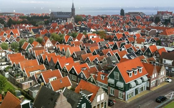 Birdseye view of Volendam