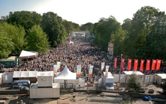 Bevrijdingpop © Ewout Koster a birds eye view of