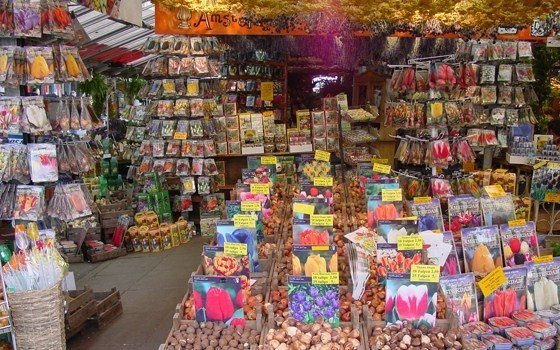 A store on the Floating flower market in Amsterdam