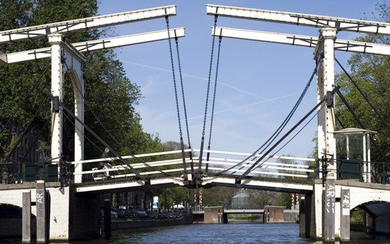 The most famous bridge of Amsterdam