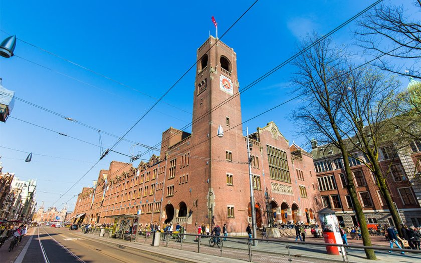 アムステルダムは煉瓦造り