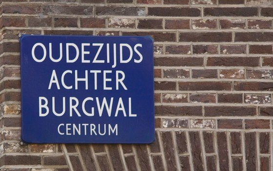 A street sign in the famous red light district also known as the Wallen