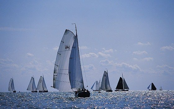Boats sailing on the ijselmeer