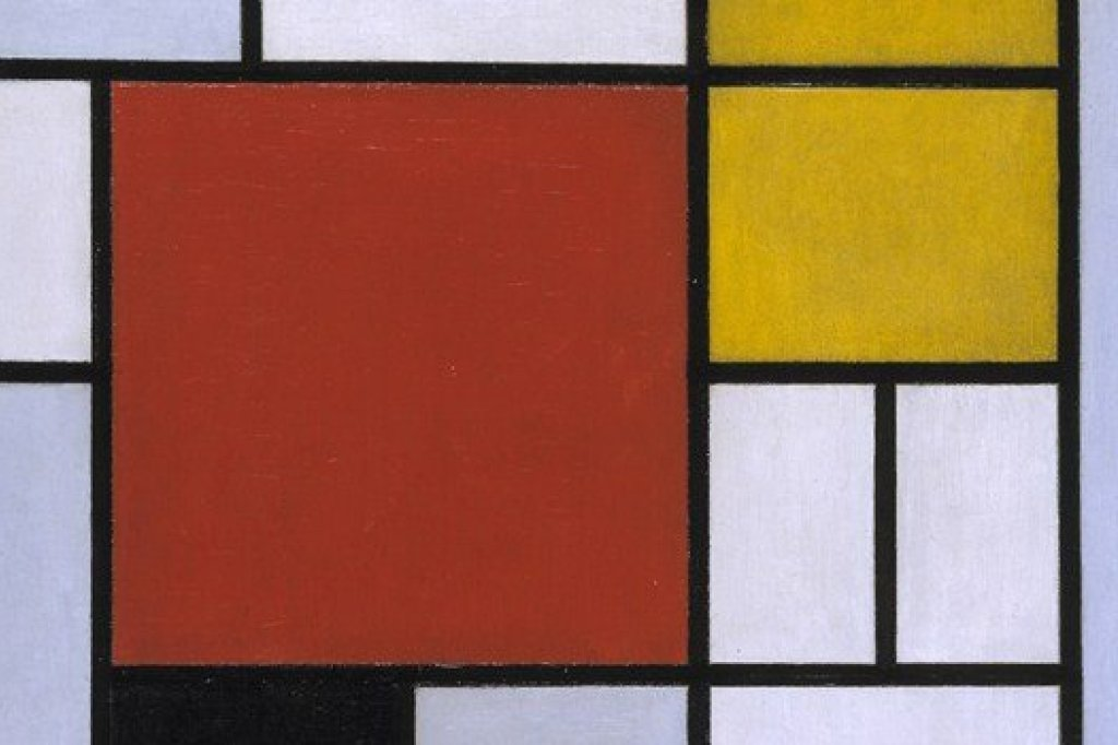 Piet Mondrian (1872-1944)Composition with Large Red Plane, Yellow, Black, Grey, and Blue